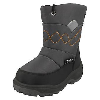 Boys JCDees Zip Up Fleece Lined Snow Boots