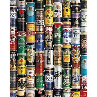 Bier kann Collage Poster Plakat-Druck