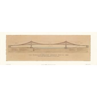 Brooklyn Bridge Poster Print by Jim Holmes (38 x 13)