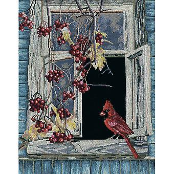 Old Window Counted Cross Stitch Kit-11.75