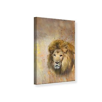 Rey de León impresión de lienzo