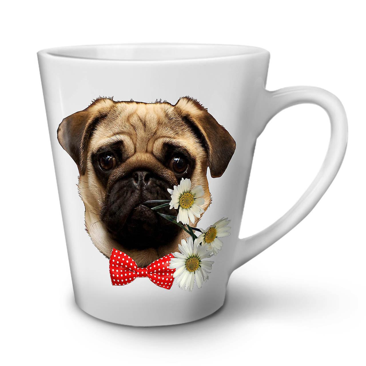 Pug Admirateur OzWellcoda Café Latte Céramique Puppy 12 Nouvelle En Tasse Blanche nk0OwP