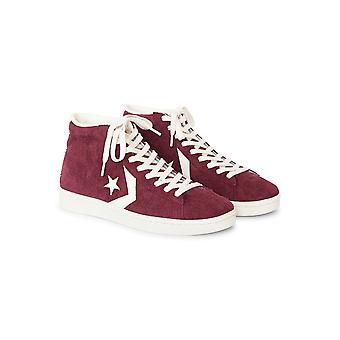 Converse Pro Leather '76 Suede Mid Burgundy