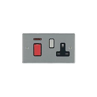 Hamilton Litestat Hartland Satin Stainless 45DP + Neon+SS1 SS/Red/BL