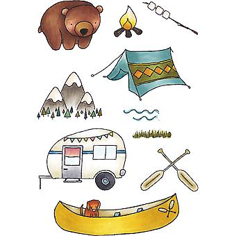 Elizabeth Crafts Clear Stamps-Camping CS042