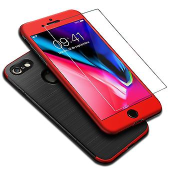 Apple iPhone 6 / 6s 2 in 1 case 360 degree full cover case red