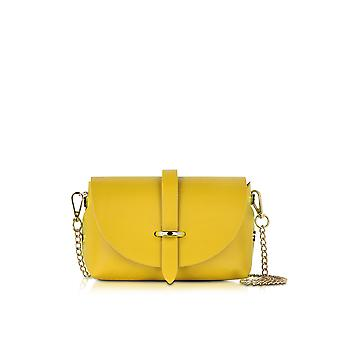 Le Parmentier ladies 010TRACOLLAPICCOLAGIALLA yellow leather shoulder bag