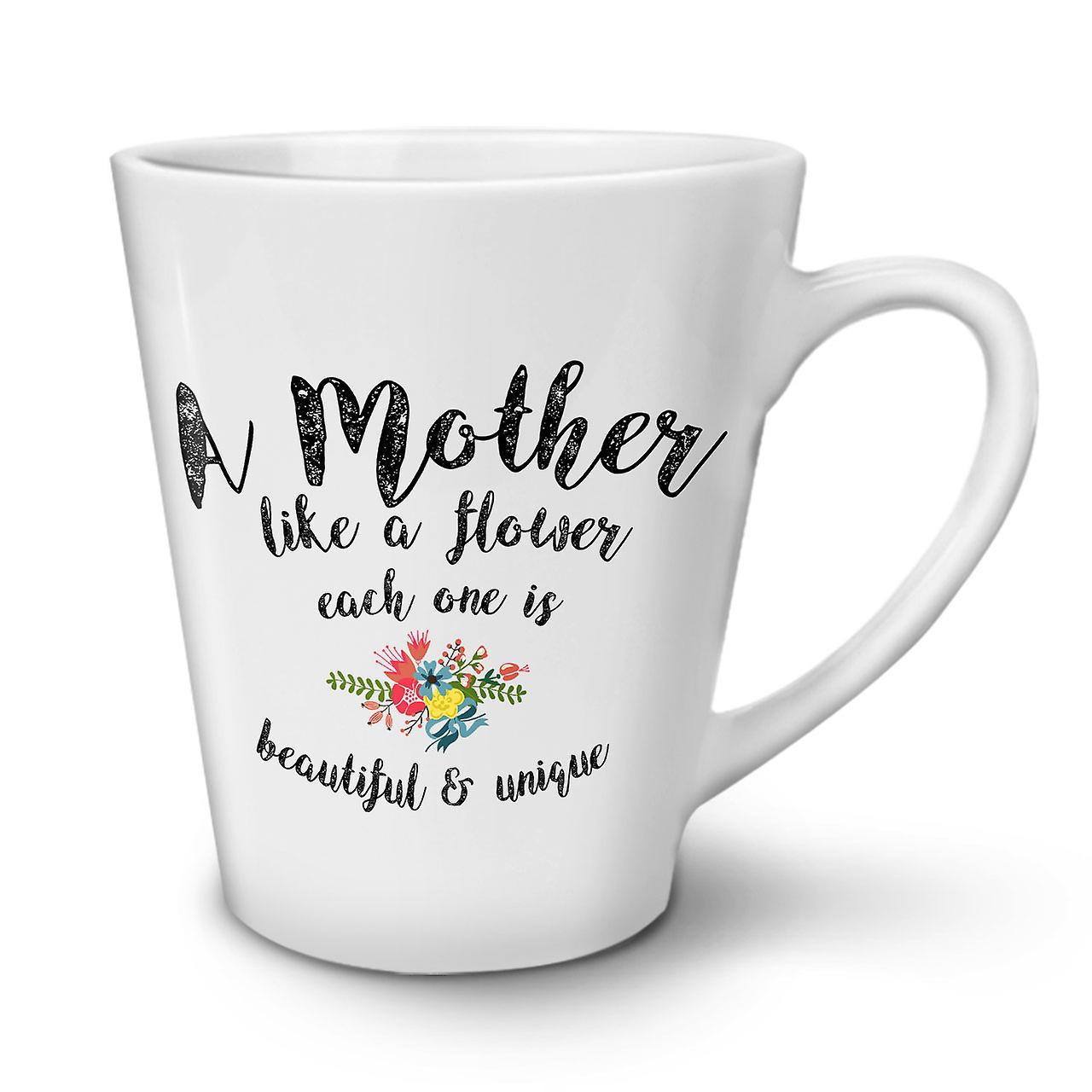 Fleur 12 De Mère OzWellcoda En Café Céramique Nouveau Blanc Mug Thé Latte 3j5AL4R