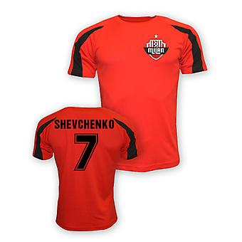 Andrei Shevchenko Ac Milan Sports formation maillot (rouge)