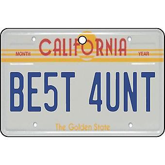 Californië - beste tante License Plate auto luchtverfrisser
