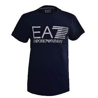 EA7 Boys EA7 Kids Navy Blue T-Shirt