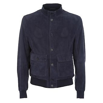 Gimo's men's 6704152F644 Blau Leder jacket