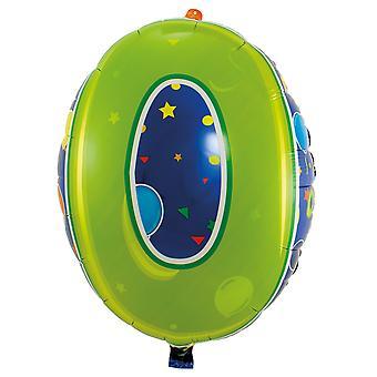 Número de globo de la hoja 0 cumpleaños aniversario año nuevo nuevo año globos unos 56 cm