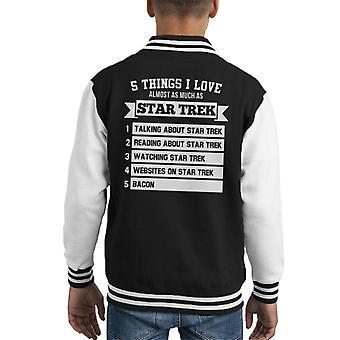 Five Things I Love As Much As Star Trek Kid's Varsity Jacket