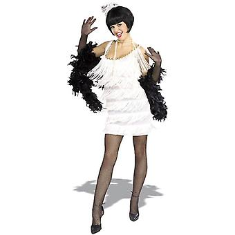 New Broadway Flapper White 20s Gangster Women Costume