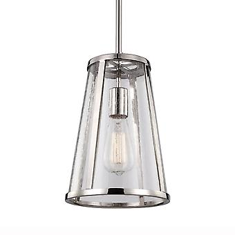 Feiss Elstead Harrow Small Pendant Light In Polished Nickel