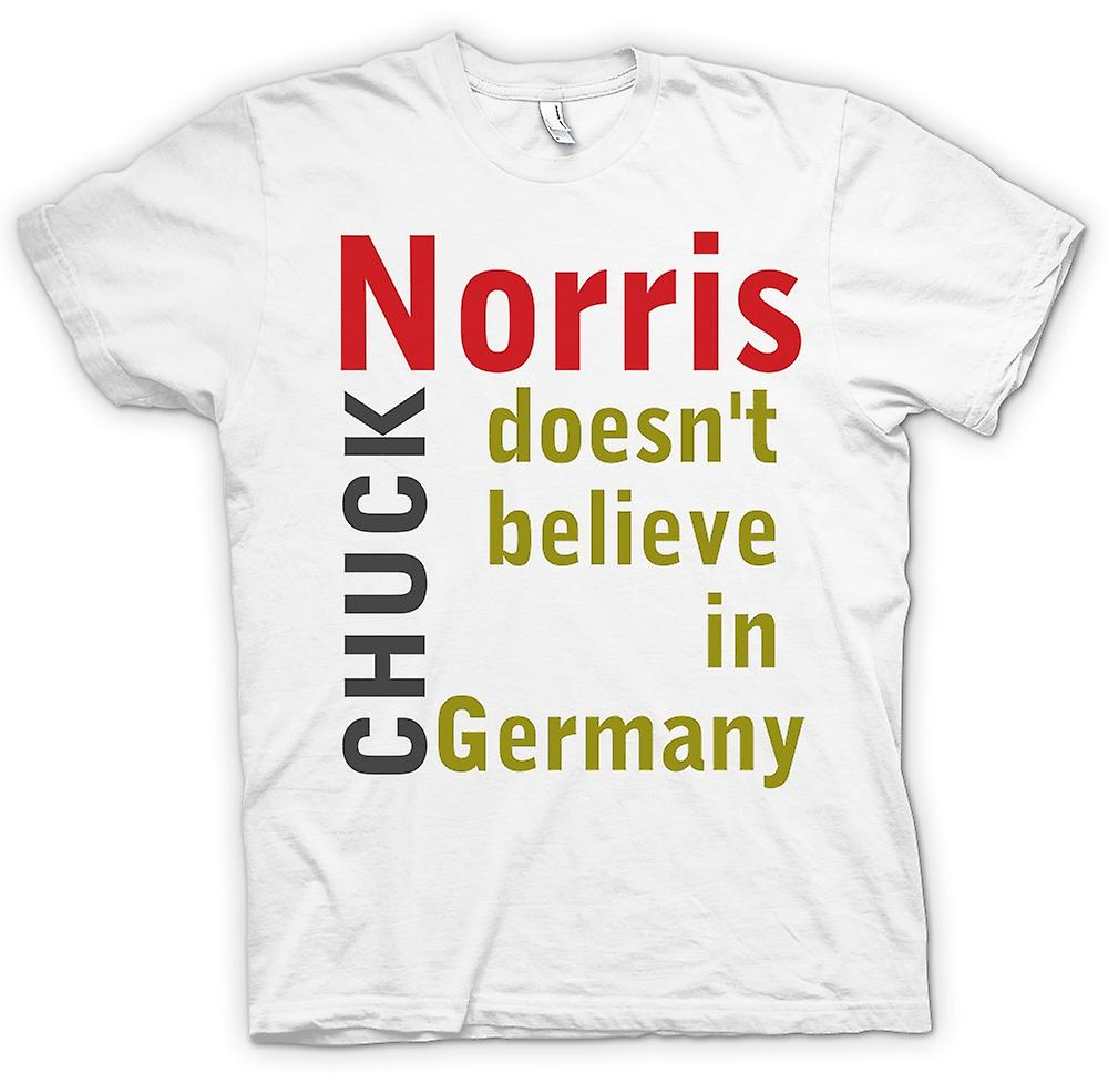 Womens T-shirt - Chuck Norris Doesn't Believe In Germany - Funny