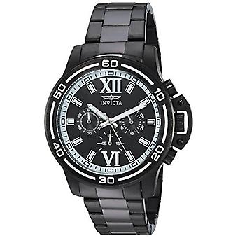 Invicta Men's Specialty 15062 Black Stainless Steel Chronograph Watch