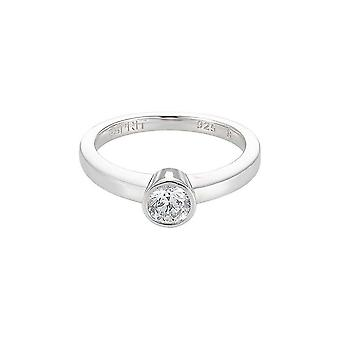 ESPRIT women's ring Silver Globe cubic zirconia ESRG91794A1