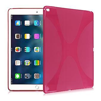 Beschermhoes siliconen X-line serie roze case voor de iPad Pro 10.5 2017 tas