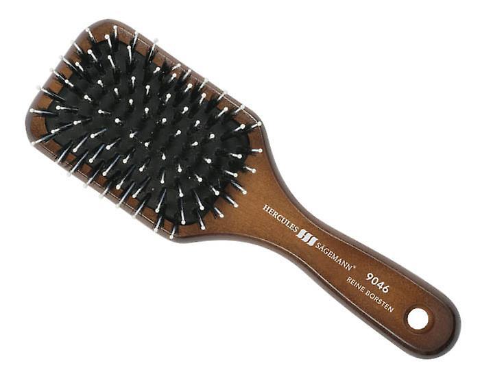 Hercules Sagemann Bristle Mini Paddle Hair Brush Walnut Wood