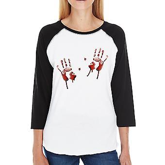 البصمات الدموية الرغلا ن معطف المرأة هالوين رعب ليلة القمصان