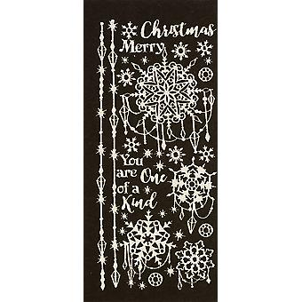 Dazzles Stickers-Jeweled Snowflakes-Pearl Silver