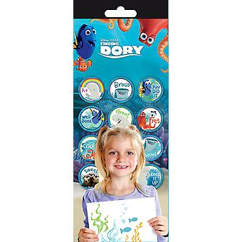 Teacher Reward Stickers 4 Sheets/Pkg-Finding Dory