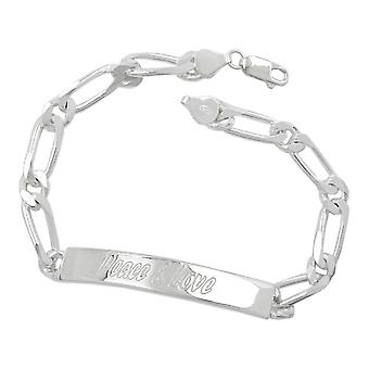 Shield band bracelet engraved