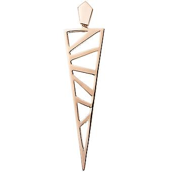 Triangular pointed 925 Sterling Silver Gold gold plated pendant bicolor
