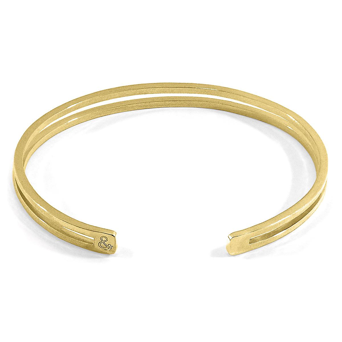 Anchor & Crew Brady Outline Midi Geometric 9ct Yellow Gold Bangle