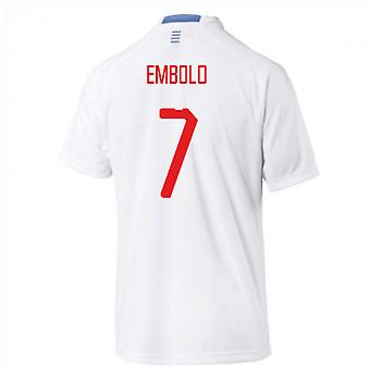 2018-2019 Switzerland Away Puma Football Shirt (Embolo 7)