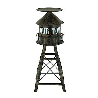 Suporte de vela do revestimento afligido Metal água Torre pilar