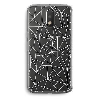 Motorola Moto G4/G4 Plus Transparent Case - Geometric lines white