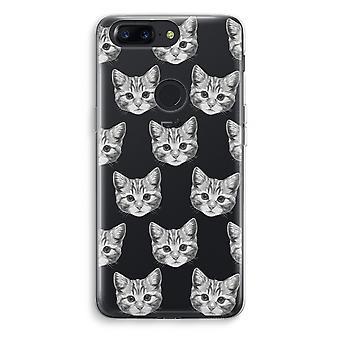 OnePlus 5T Transparent Case (Soft) - Kitten