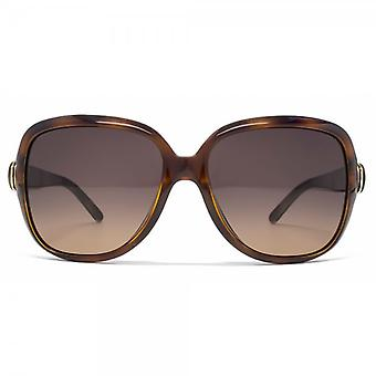 Chloe Oversize Square Sunglasses In Light Havana