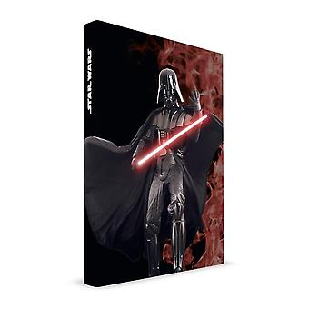 Star Wars printed book with sound & lights feature Darth Vader, DIN A5 ruled, 120 pages.