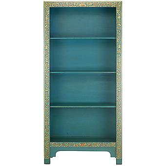 The Nine Schools Oriental Decorated Blue Bookcase - Baumhaus