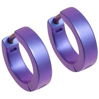 Pendientes de aro pequeño de titanio Ti2 - púrpura
