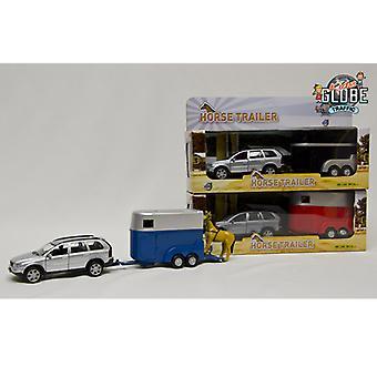 Kids Globe Traffic Volvo XC90 + Pferdeanhänger