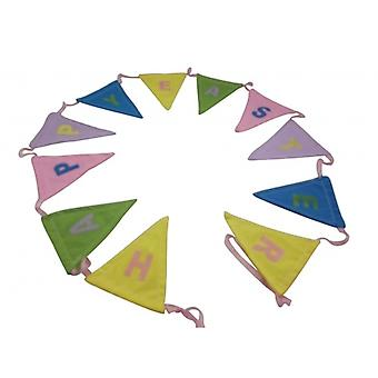 Gisela Graham Pretty Wielkanoc Bunting Home Decoration