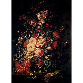 Flowers and Fruit,Rachel Ruysch,60x40cm