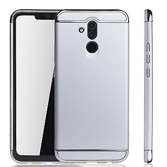 Huawei Mate 20 Lite Handy Hülle Schutz Case Bumper Hard Cover Silber