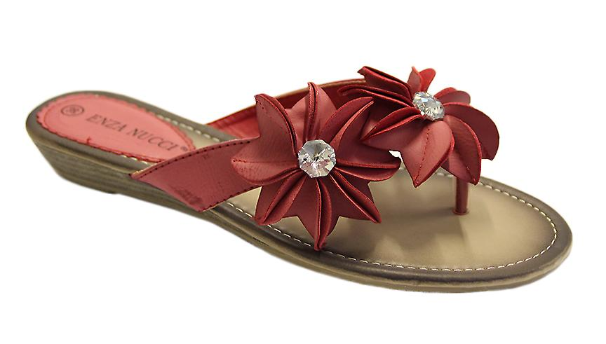 Waooh - Footwear - Mule adorned with flowers and rhinestones