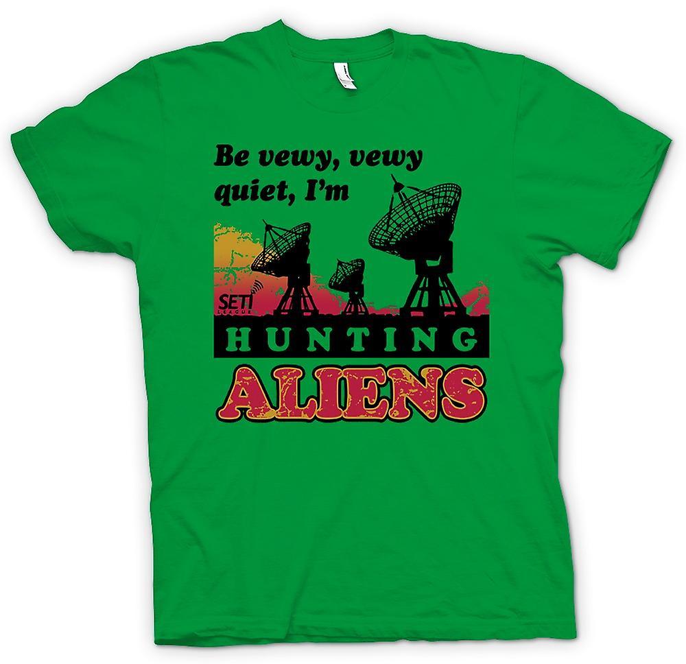 Hommes T-shirt - SETI - OVNI - Alien Hunters - Astronomie