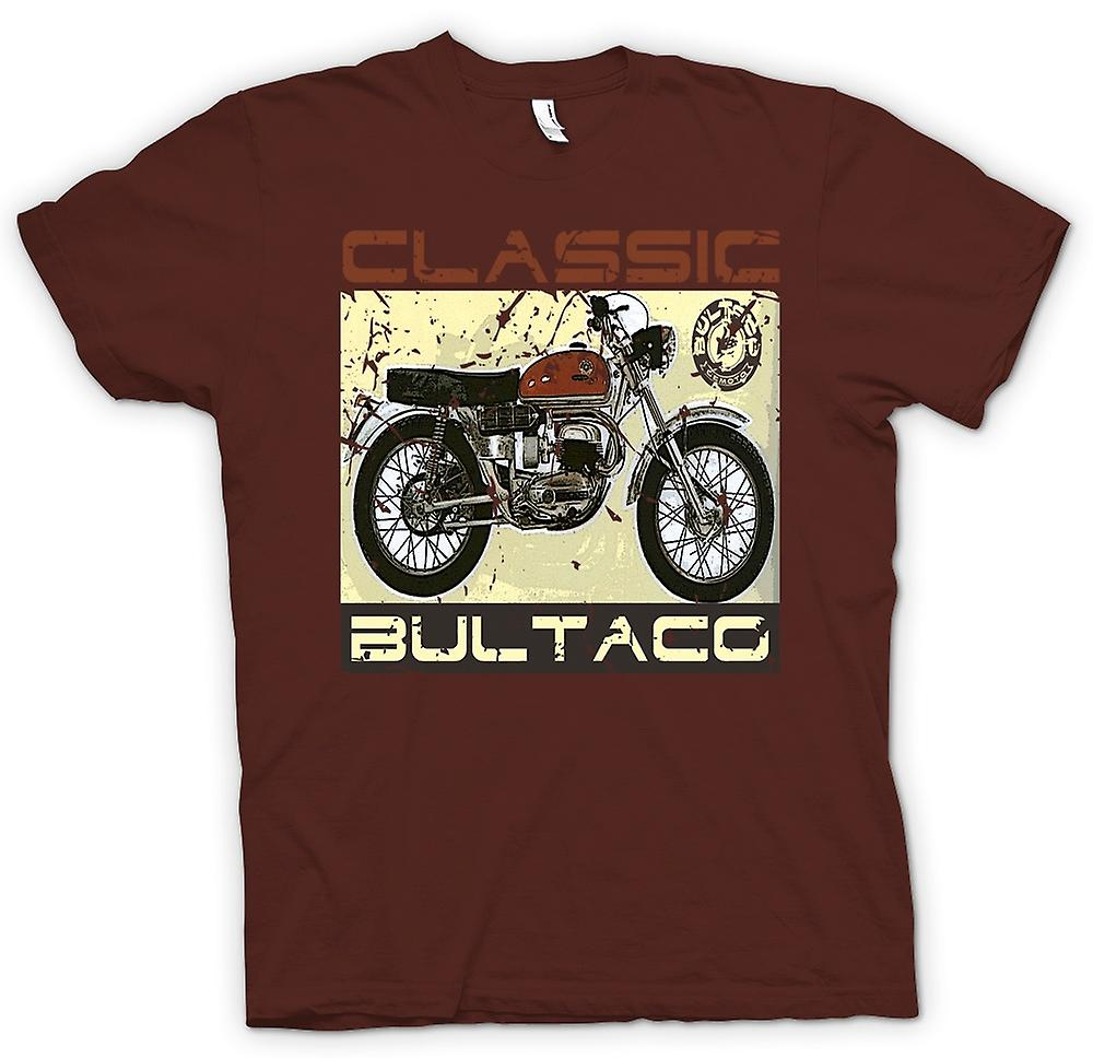 Mens t-shirt-Bultaco Classic Dirt Bike