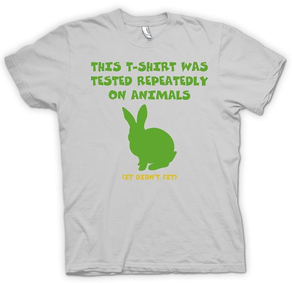 Mens T-shirt - This T Shirt Was Tested On Animals, It Didn�t Fit
