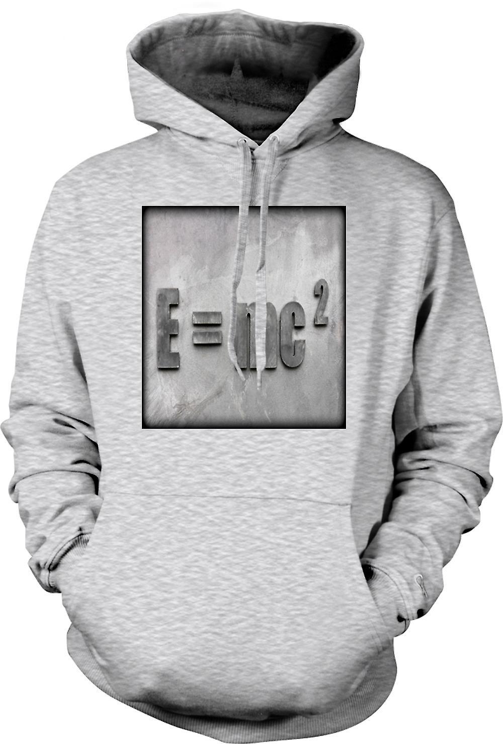 Para hombre con capucha - Einstein E = MC2