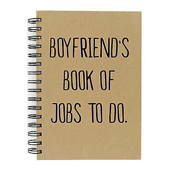 Boyfriend's Book Of Jobs To Do A5 Kraft Notebook