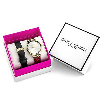 Daisy Dixon Gold Glitter Strap Interchangeable Limited Edition Ladies' Gift Set